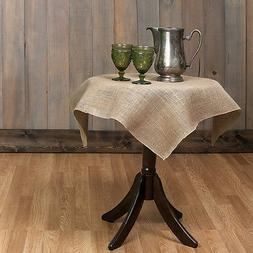 Small Tablecloth Burlap Natural Square Overlay 36 Inch By Br