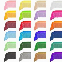 """Solid Color Party Supply Table Cloth Plastic Table Cover 54"""""""