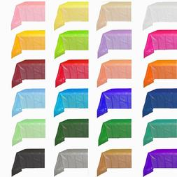 "Solid Colors 54"" x 108"" Rectangular Plastic Tablecloths Tabl"