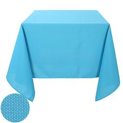 Deconovo Solid Oxford Square Wrinkle Resistant Tablecloth Fo