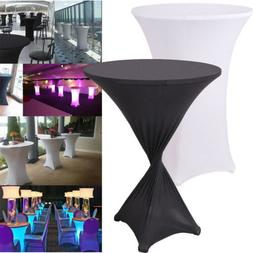 """39"""" Spandex Round Table Cloth Cover Stretch for Birthday Wed"""