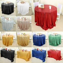 Sparkle Sequin Tablecloth Table Cloth Cover for Banquet Wedd