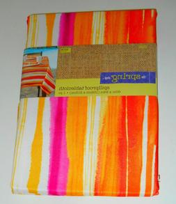 Spillproof TABLECLOTH Spring Shop Orange Pink White New 60 x