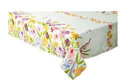 Newbridge Spring Awakening Flower Garden Print Fabric Tablec