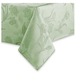 Spring Blossoms Tablecloth 60 x 120 Pistachio Green Flowers