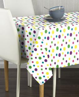 Spring Dots All Over Multi Polyester Tablecloth Assorted Siz