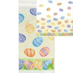 """Spring Easter Plastic Tablecloth, 84"""" x 54"""""""