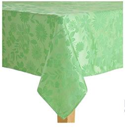 Spring Easter Floral Mint Green Fabric Tablecloth 60 x 144 R