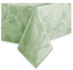 Spring Rectangle Tablecloth 52 x 70 Pistachio Green Flowers