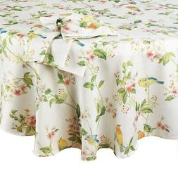 Spring Rectangle Tablecloth 60 x 84 inch Songbirds Flowers B