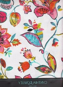 Spring Rectangle Tablecloth Bright Flowers on White 60 x 120