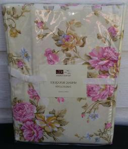 """Spring Tablecloth PINK Rose Bouquet Pattern 60 x 84"""" Oval NE"""