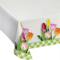 Spring Tulips Plastic Banquet Tablecloth Spring Flowers Flor