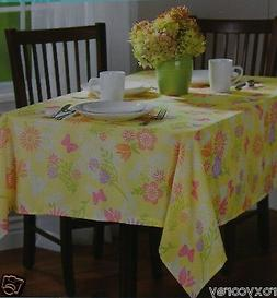 Easter Spring Yellow with Flowers & Butterflies 52x52 Oblong