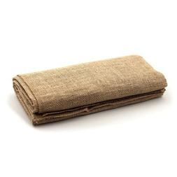 LinenTablecloth Square Burlap Tablecloth, 60-Inch