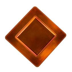 """13"""" Square Charger Plate  Color: Orange"""