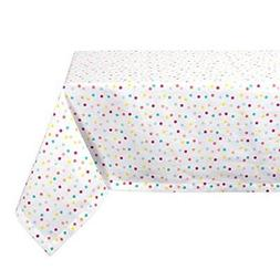 DII Square Cotton Tablecloth for Spring Wedding, Birthday Pa