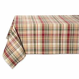 "Cabin Plaid Square Tablecloth, 100% Cotton with 1/2"" Hem"