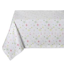"DII 52x52"" Square Cotton Tablecloth, Christmas Stars - Perfe"