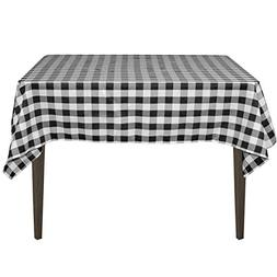 square polyester tablecloth black checker