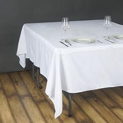 70 in. Square Polyester Tablecloth White