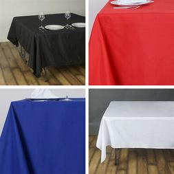 SQUARE POLYESTER TABLECLOTH Wedding Party Catering Linens De