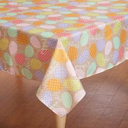 Square Tablecloth  Easter Spring Pastel easy care polyester