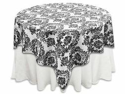 Zen Creative Designs 58 x 58 Inch Square Tablecloth Flock Da