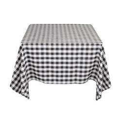 LinenTablecloth 70-Inch Square Tablecloth Red & White Checke