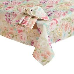 Square Tablecloth Spring Garden Addison Floral Easter Print