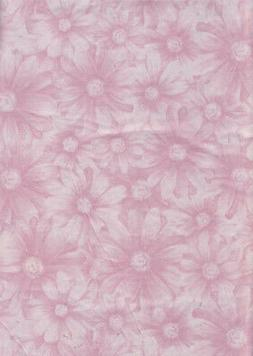 Square Tablecloth Vinyl Flannel Back Pastel Pink Daisy Flowe