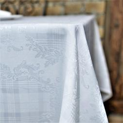 AHOLTA DESIGN Stain Resistant White Easter Tablecloth Polyes