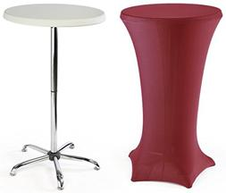 """High-Top Cocktail Tables Are Portable, Include a 47"""" Tall"""
