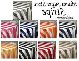 """Striped Round Tablecloth 36"""", 45"""", 54"""", 58"""", 72"""", 83"""", 90,"""""""