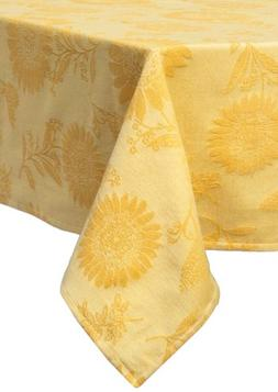 sunflower jacquard rectangle tablecloth