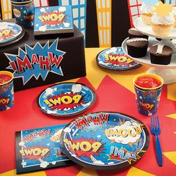 Superhero Slogans Birthday Party Supplies