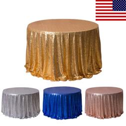 Table Cloth Cover Rose Glitter Gold Sequin Wedding Party Ban