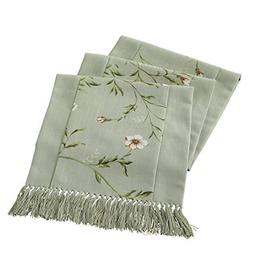 JYQ Table Cloth Runners Tree Leaf Flower with Tassels for Re