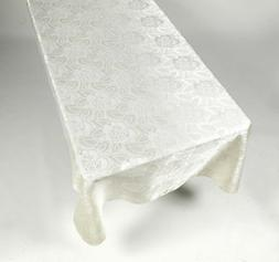 Table cloth TableCloth 60 x 84 Rose Damask Pattern Color Ivo