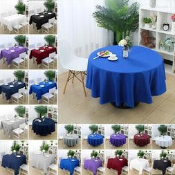 Table Cover Cloth Party Tablecloth Round Square Rectangle Ta