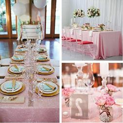 Table Runner Sparkly Sequin Tablecloth Cover Wedding Banquet