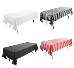 Tablecloth, 60 x 102 Inch Rectangular Table Cloth for 6 Foot