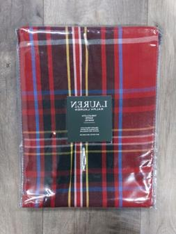 Ralph Lauren Tablecloth 60 X 104 Glenview Red Tartan Plaid C