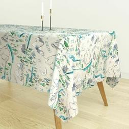 Tablecloth Adventure Map Trail Mountains Outdoors Woodland C