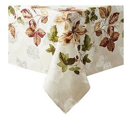 tablecloth autumn floral square table