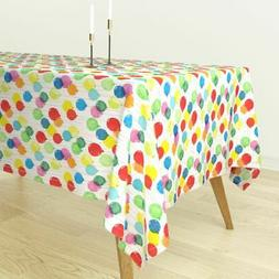 Tablecloth Ballons Celebration Colorful Birthday Party Child