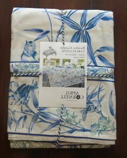 April Cornell Tablecloth Bamboo Garden Blue French Country F
