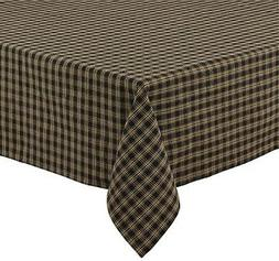 "Sturbridge Black Plaid Tablecloth 54"" x 54"" Park Designs Cou"