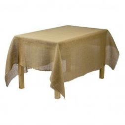 Tablecloth Burlap Natural Linen Rectangular 60 X 90 Inch By