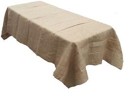 Tablecloth Burlap Natural Rectangular 60 x 120 Inch By Browa